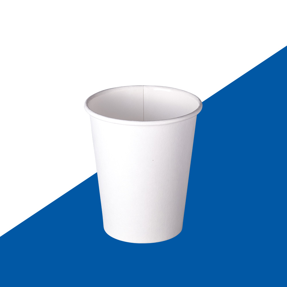 SUPER HOT SPECIAL! 80mm 8oz Plain White Single Wall Coffee Cups