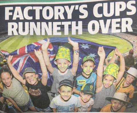 Factory's Cups Runneth Over [As Seen In The Courier Mail]