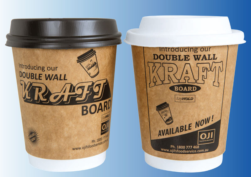 Oji Foodservice Packaging - EZHold (Double Wall) Kraft Cups