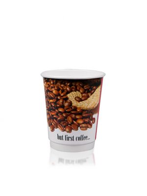 12oz Double Wall Hot Cup - Custom Design
