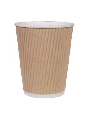 90mm 12oz Corrugated Kraft Cup