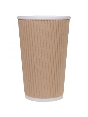 90mm 16oz Corrugated Kraft Cup