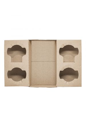 4 Cup Drink Tray - Kraft