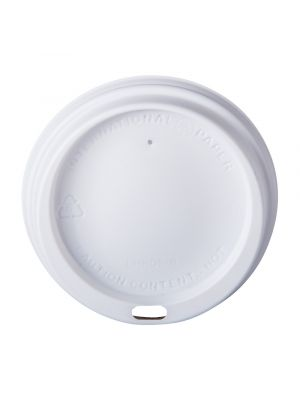 80mm Dome Lid - White