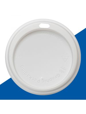 90mm Dome Lid - White