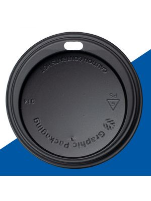 90mm Dome Lid - Black