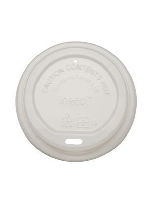 90mm Dome PLA Lid - White