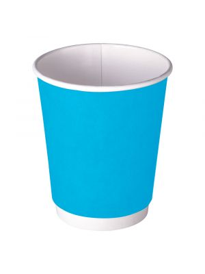 90mm 12oz Double Wall Hot Cup - Deep Cyan Blue
