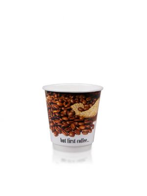 8oz Double Wall Hot Cup 90mm - Custom Design