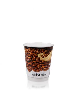 8oz Double Wall Hot Cup 80mm - Custom Design
