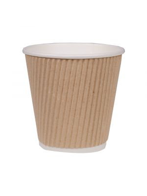 90mm 8oz Corrugated Kraft Cup
