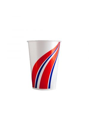 14oz Cold Cup - Swirl Red & Blue