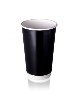 16oz Double Wall Hot Cup - Black