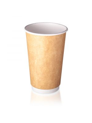16oz Double Wall Hot Cup - Kraft