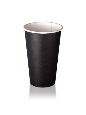 16oz Single Wall Hot Cup - Black