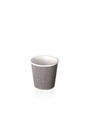 4oz Double Wall Hot Cup - B&W Check