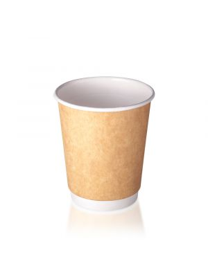 8oz Double Wall Hot Cup - Kraft