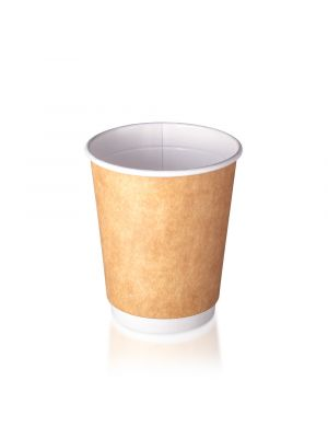 12oz Double Wall Hot Cup - Kraft