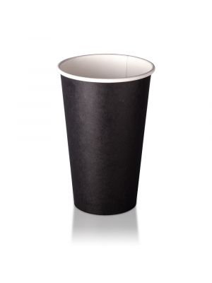 16oz Single Wall Hot Cup - Black