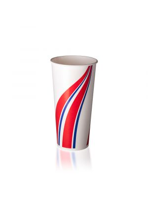 22oz Cold Cup - Swirl Red & Blue