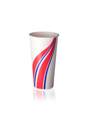 24oz Cold Cup - Swirl Red & Blue
