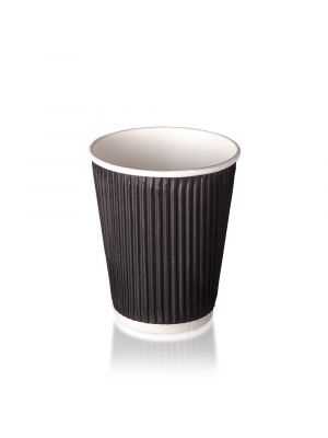 12oz Double Wall Hot Cup - Matt Black