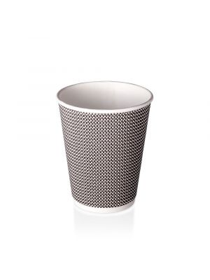 12oz Double Wall Hot Cup - B&W Check