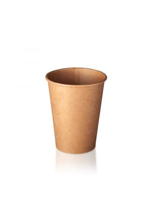 12oz Single Wall Hot Cup - Kraft