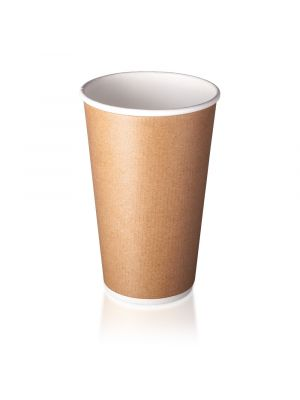16oz Double Wall Hot Cup - Smooth Kraft