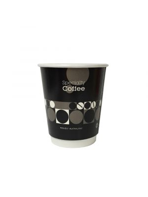 8oz Double Wall Hot Cup - White